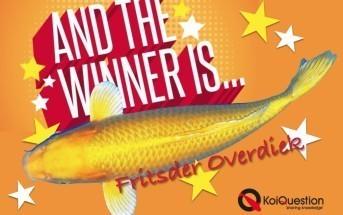 Fritsder Overdiek winnaar Yamabuki Nisai van de Yoshikigoi Koi farm